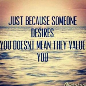 don't value